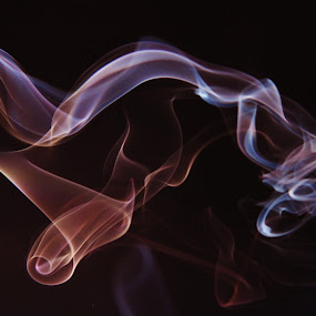 Emotion in Smoke by Simon Lambert - Abstract Fine Art ( colour, abstract, twists, incense, twirls, motion, smoke, shapes )