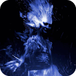Girl in a blue flame LWP APK Image