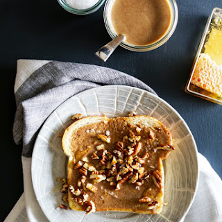 Roasted Pecan Butter, Honeycomb and Sea Salt Toast