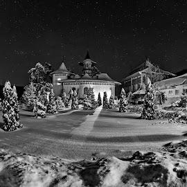 Bujoreni Monastery - Romania by Agatanghel Alexoaei - Black & White Landscapes