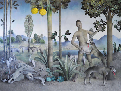 Goat Landscape Dogs Oil on canvas James Mortimer