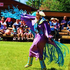 Navajo Dancer by Casey Woolf - People Musicians & Entertainers ( #navajo #nativeamerican #dancer #wyoming )