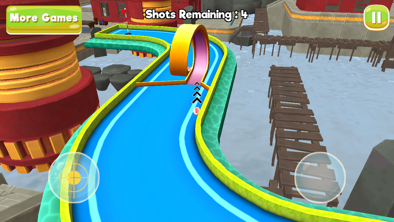 Mini Golf 3D City Stars Arcade Screenshot 1