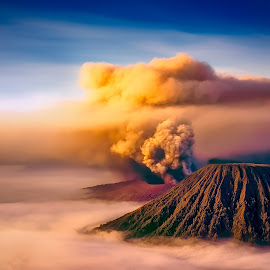 Portrait Of Bromo by Tien Sang Kok - Landscapes Mountains & Hills ( volcano, mountain, nature, mount bromo, landscape )