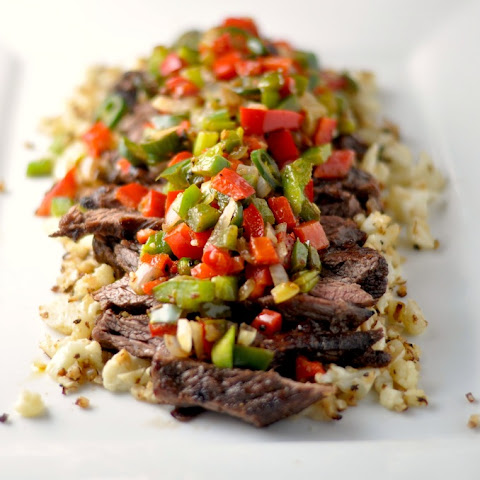 Five Spice Flank Steak with Pepper Relish