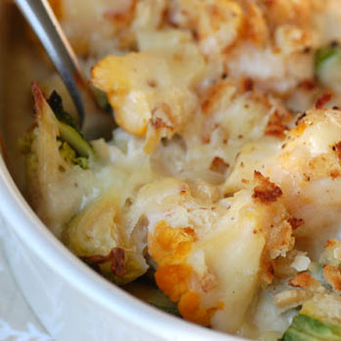 Cauliflower and Brussels Sprout Gratin