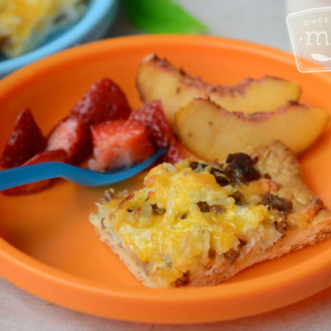 Toddler Breakfast Pizza