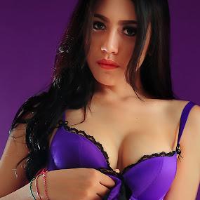 In Purple  by Amin Basyir Supatra - People Portraits of Women ( bali, fashion, girl, beautiful, beauty, portrait )