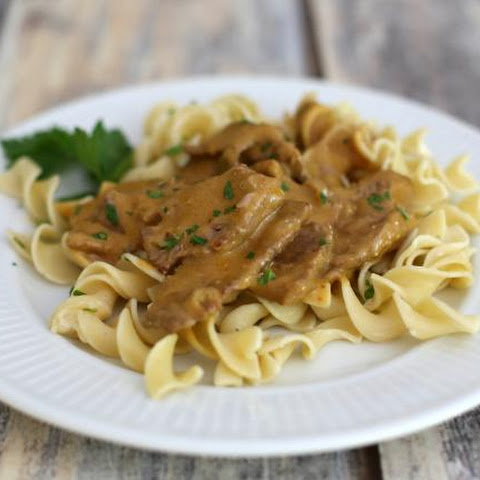 Sirloin Beef Stroganoff with Sour Cream