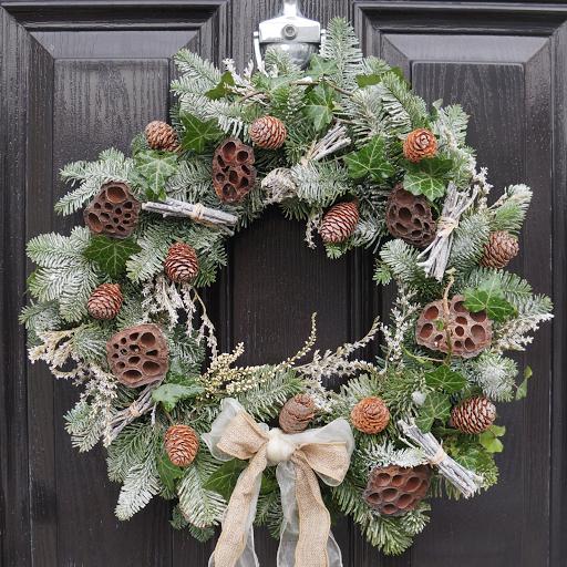 Woodland Wreath - The Florist Tunbridge Wells