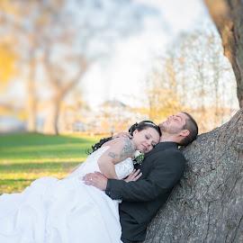 Wedding Couple by Michel Bissonnette - Wedding Bride & Groom ( wedding, wedding couple )