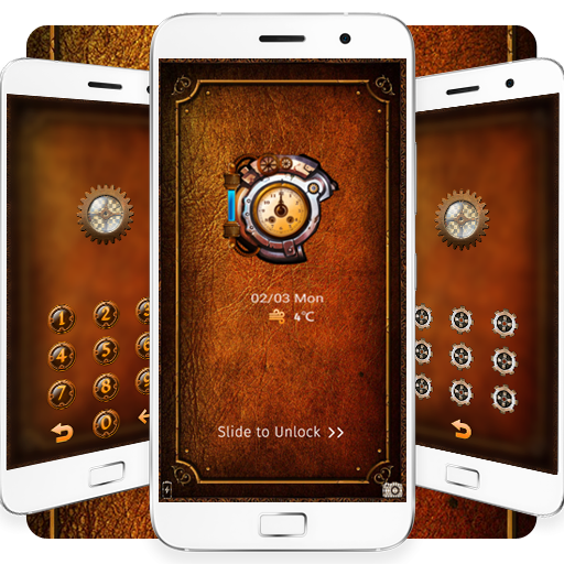 Steampunk clock theme (app)