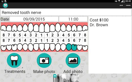 Dental treatment - screenshot