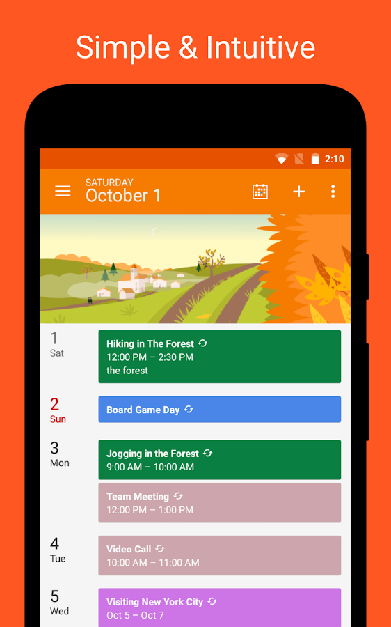 DigiCal Calendar Agenda Screenshot 3