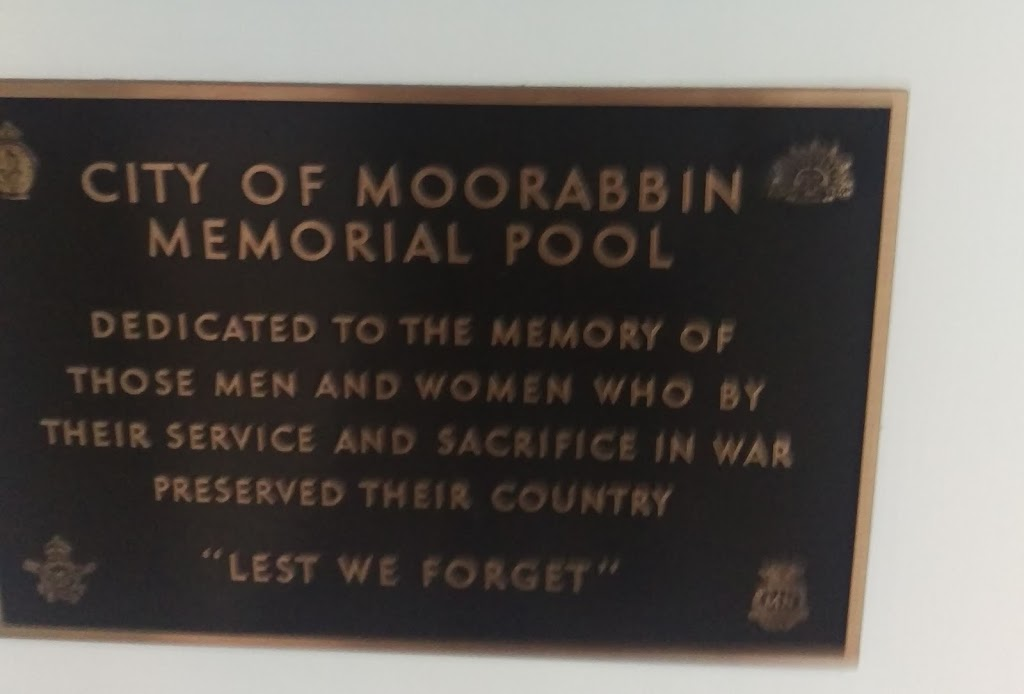 I assume this plaque relates to a previous pool that stood on this site rather than the modern sports and aquatic centre. Plaque reads: City of Moorabbin Memorial Pool Dedicated to the memory of ...