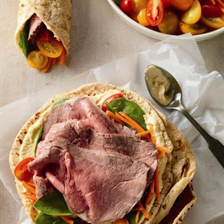 Mediterranean  Beef and Veggie Wraps