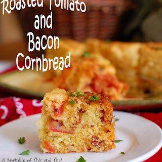 Cornbread with Roasted Tomatoes and Bacon