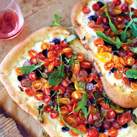 Tomato, Grape, and Ricotta Flatbread