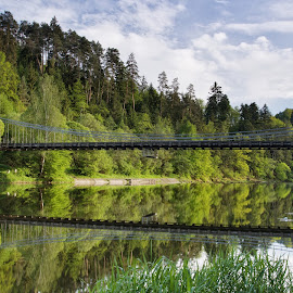 Bridge by Martin Kostohryz - Landscapes Waterscapes ( south bohemia, afternoon, bridge, spring, river )