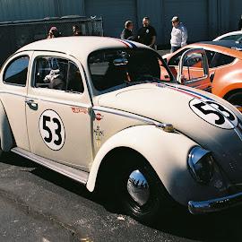 Herbie Fujicolor by Kavori Huffman - Transportation Automobiles ( car, film, vw, 35mm, herbie, volkswagen )