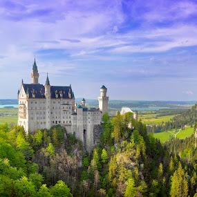 Schloss Neuschwanstein by Elk Baiter - Buildings & Architecture Public & Historical ( ludwig, castle, bavaria, germany, neuschwanstein,  )