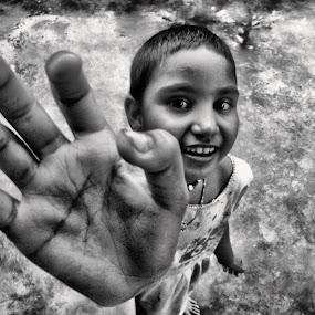 poor child by Jhilam Deb - Babies & Children Hands & Feet ( hand, black & white, children, babies & children, poor child,  )
