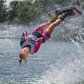 Martina Zlatohlavkova by Henrik Spranz - Sports & Fitness Watersports ( ski, water, woman, sport, trick, flip )
