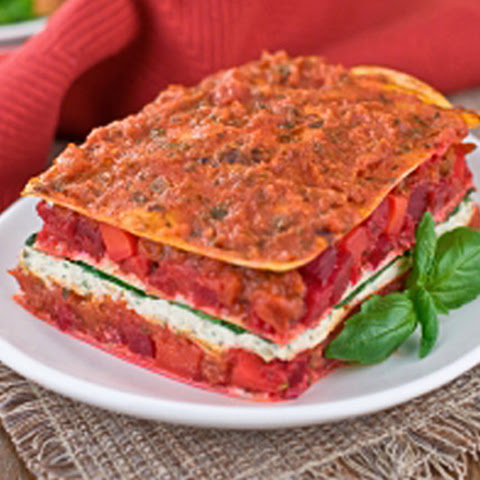 Roasted Red Bell Pepper Lasagna