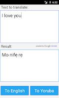 Screenshot of Yoruba English Translator