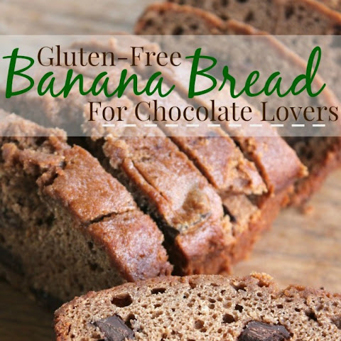 Triple Chocolate Peanut Butter Banana Bread Bars {Gluten Free} Recipe ...