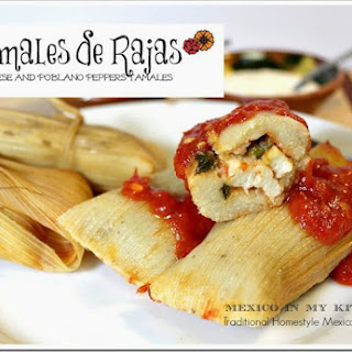 Cheese and Roasted Peppers Tamales / Tamales de Rajas Con Queso