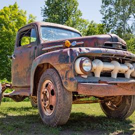 Yooper Ford by John Williams - Transportation Automobiles ( upper peninsula, michigan, ford, rust, classic truck )