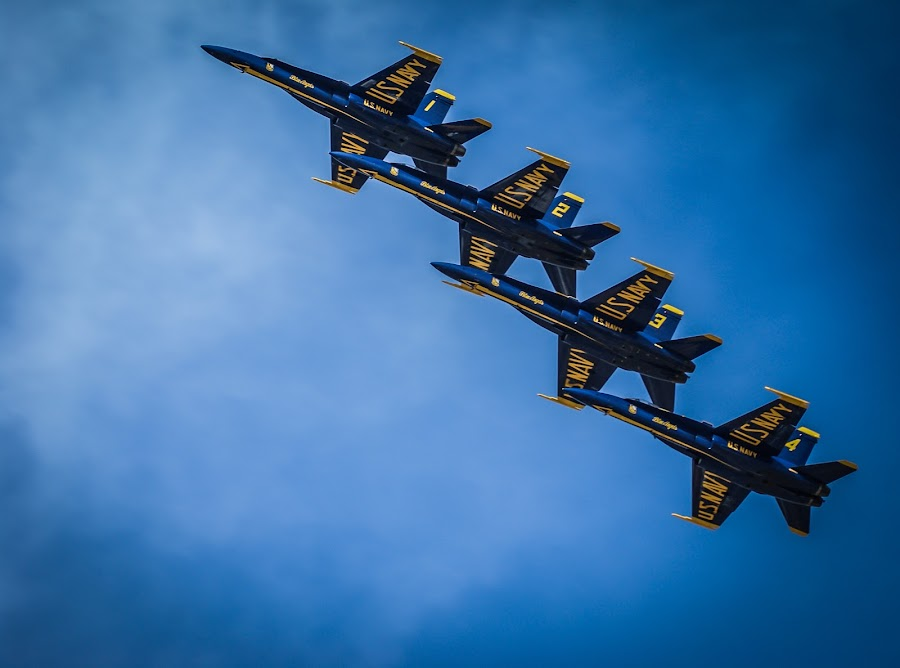 Blue Angels by John Spain - Transportation Airplanes ( jets, f18, blue angels, air show )