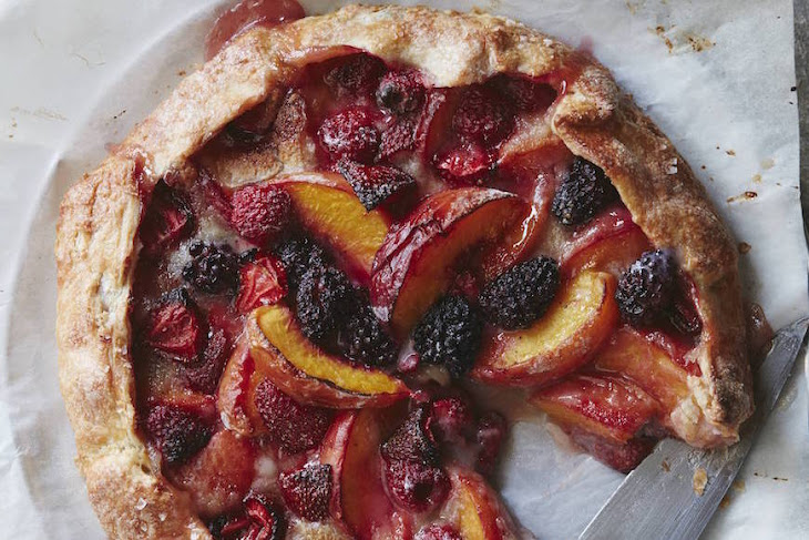Mixed Berry Peach Galette