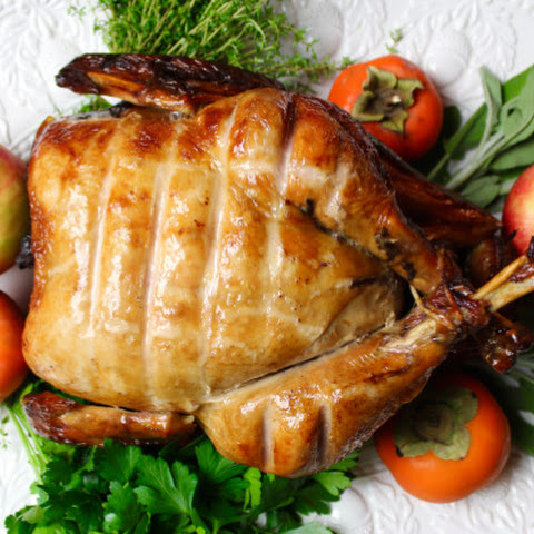 Upside-Down Roasted Stout-Brined Turkey