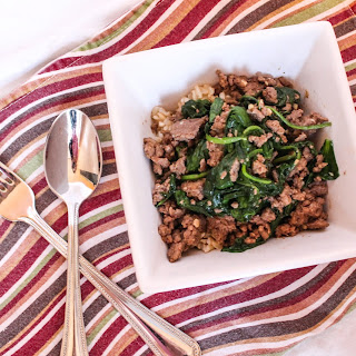 Turkey Spinach Stir Fry