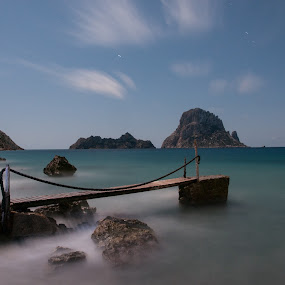 Es Vedra by Inma  Monte Picante - Landscapes Waterscapes ( ibiza, cala d'hort, es vedra, long exposure, beach )