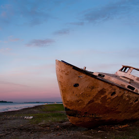 Ghostship Ashore by Luc Belisle - Transportation Boats