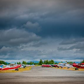 Merrill Field Anchorage Alaska Bush Planes by Kevin Beasley - Transportation Airplanes ( plane, alaska, airplane, anchorage, bush plane,  )