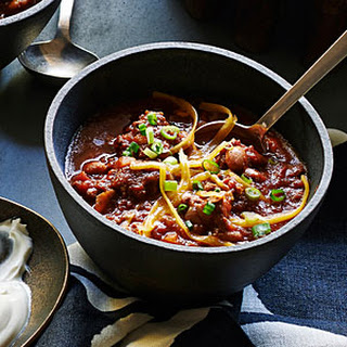 Smoky Beef-and-Bacon Chili