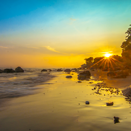 good morning sunshine by Agung Tata - Landscapes Sunsets & Sunrises ( bali, indonesia, beautiful, landscape photography, beach, sunrise )