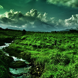 Greenery by Uttam Das - Landscapes Cloud Formations ( water, clouds, green, landscape, skyscape,  )