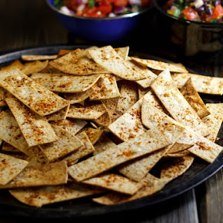 Chipotle and Lime Oven Baked Tortilla Chips