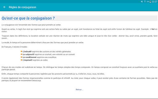 Le Conjugueur Conjugaison - screenshot