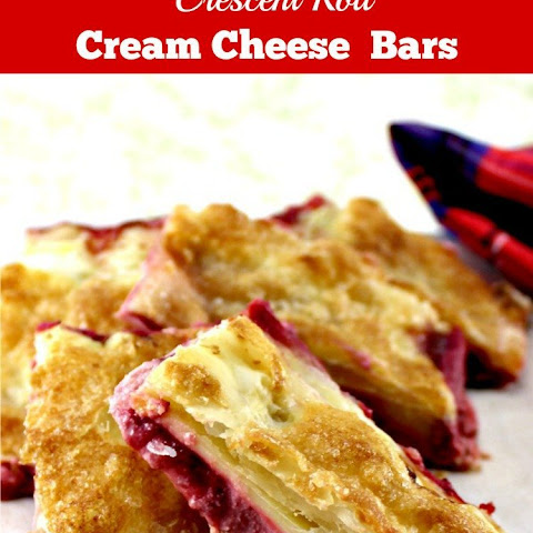 Strawberry Crescent Roll Cheesecake Bars