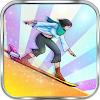 Justin venture Skiing Stunt