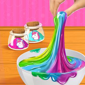 Rainbow Unicorn DIY Slime Making Simulator For PC / Windows 7/8/10 / Mac – Free Download