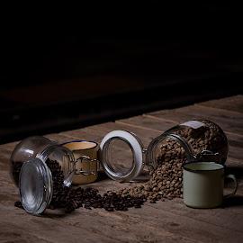 by Eko Probo D Warpani - Artistic Objects Still Life ( strobist, coffee beans, still life, coffee, coffee cup,  )