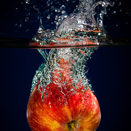 Splash! by Troy Wheatley - Food & Drink Fruits & Vegetables ( water, fruit, splash, food, apple )