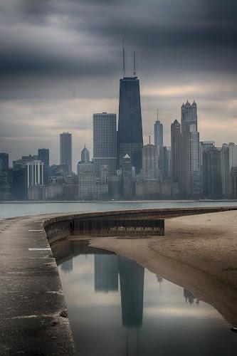City Reflection by Dennis Granzow - City,  Street & Park  Skylines